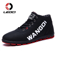LEOCI Winter Men Running Shoes Warm Fur Sneakers Outdoor Athletic Sport Shoes Men S Boots Comfortable