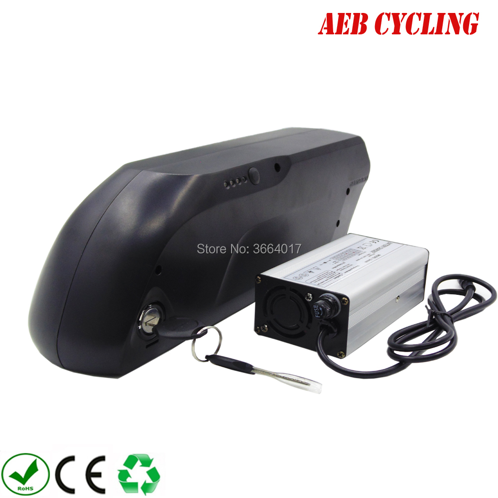 EU US no taxes 48V 13.6Ah Lithium ion battery tiger shark down tube e bicycle battery pack for mountain bike with charger