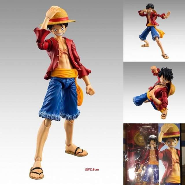 MegaHouse Variable Action Heroes One Piece Monkey D Luffy PVC Action Figure Collectible Model Toy 18cm A224