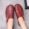 Spring and autumn new mother fashion leather shoes casual comfortable middle-aged women's leather shoes, soft-soled flat shoes