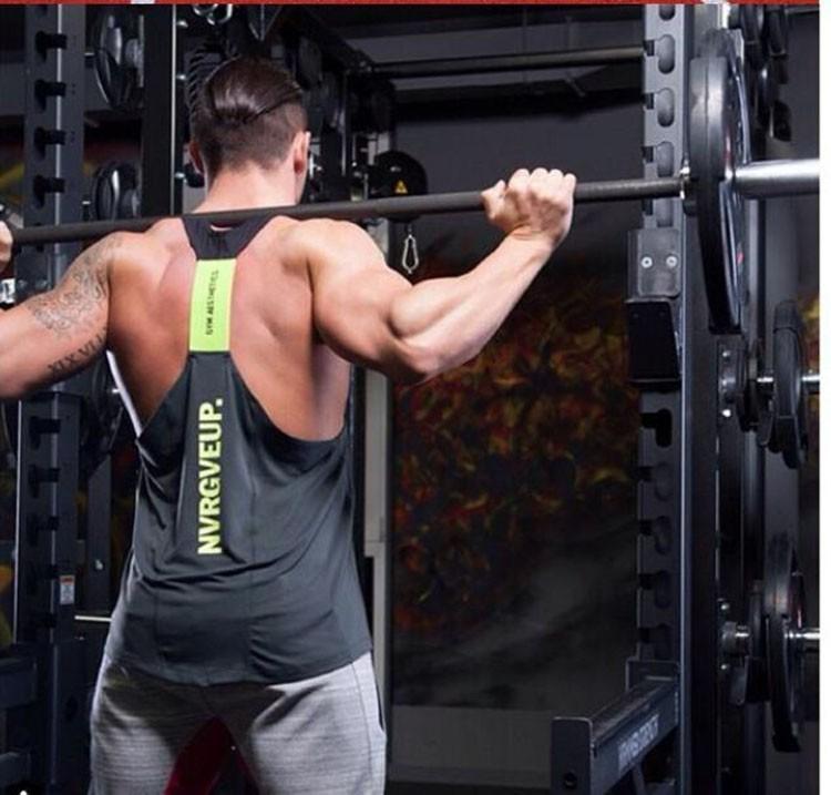 Gym Tank Top Men Undershirt Sports Wear GymShark Singlet Bodybuilding Men\'s Fitness Training Quick-drying Vest Sleeveless Shirt (2)