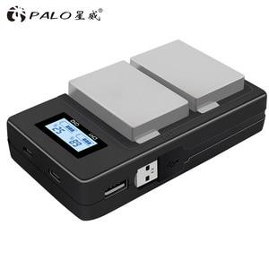 Image 3 - PALO 2Pcs 1800mah LP E8 LPE8 LP E8 Batteria Batterie AKKU + LCD Dual Caricabatteria per Canon EOS 550D 600D 650D 700D X4 X5 X6i X7i T2i