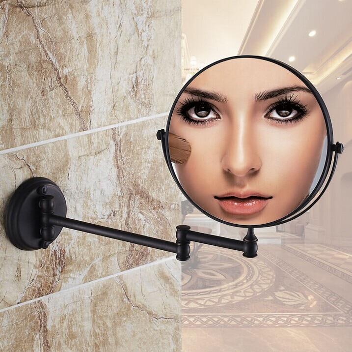 Black Antique brass mirror bathroom wall makeup mirror 8inch bathroom mirror antique decorative makeup mirrors