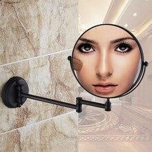 Черный античная латунь зеркало, стены ванной и зеркалом для макияжа 8 дюймов зеркало в ванной античное декоративные зеркала для макияжа