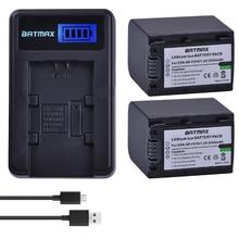 2 pacote de 2500 mah baterias np-fv70 np fv70 npfv70 & lcd usb carregador para sony np-fv50 fv30 hdr-cx230 hdr-cx150e hdr-cx170 cx300 z1