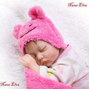 "NPK 16"" 40cm lovely girl reborn babies dolls soft Silicone Reborn Dolls educational children gift toys bebe alive bonecas reborn"