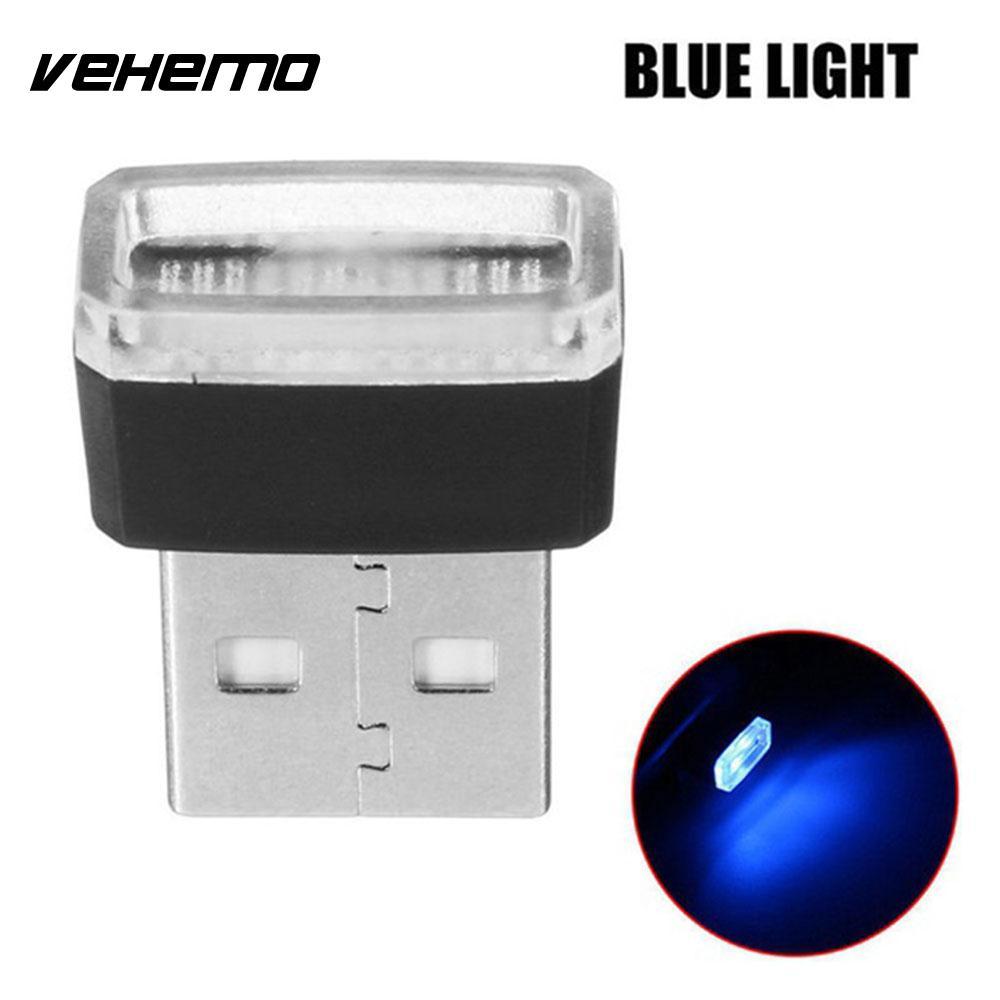 Vehemo Волшебные светодиодные фонарики атмосферный Свет Usb светодиодный свет автомобильное освещение беспроводной мини банк питания - Испускаемый цвет: blue