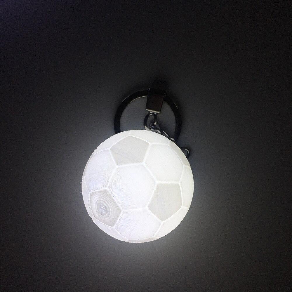 3D принт Футбол брелок лампа 40 мм Творческий Сумка Декор подарок Красочные сменными светодиодный ночник ночники для детей