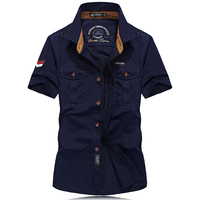 Plus Size M 4XL Brand Casual Shirt Men Short Sleeve Camisa Masculina New Summer Clothing Caogo
