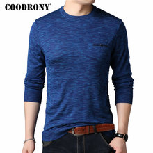COODRONY Cashmere Wool Sweater Men Casual O-Neck Pullover Men Clothes Autumn Winter Mens Sweaters Plus Size Pull Homme 8146