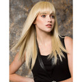 High Quality Long Blonde Color Wigs Capless Synthetic Hair Wigs For Women With Bangs
