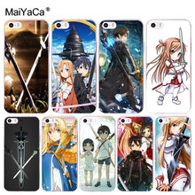 f31dad4d4e2 MaiYaCa Sword Art Online SAO Anime Manga funda de teléfono de diseño único para  iPhone 8 7 6 6 s Plus X 10 5 5S SE 5C 4 4S Coque.