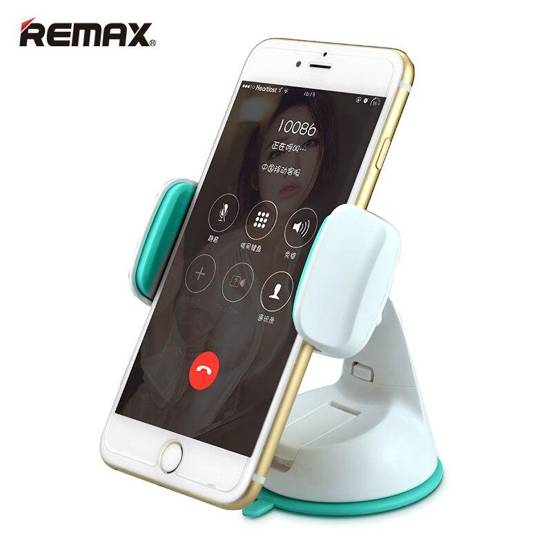 Цена за Remax Мобильного Телефона Держатель Приборной Панели Автомобиля Кронштейн для 3.5-6.0 ''Мобильный Телефон 360 Градусов Поворот Сильный Стабильный Присоске Регулируемый