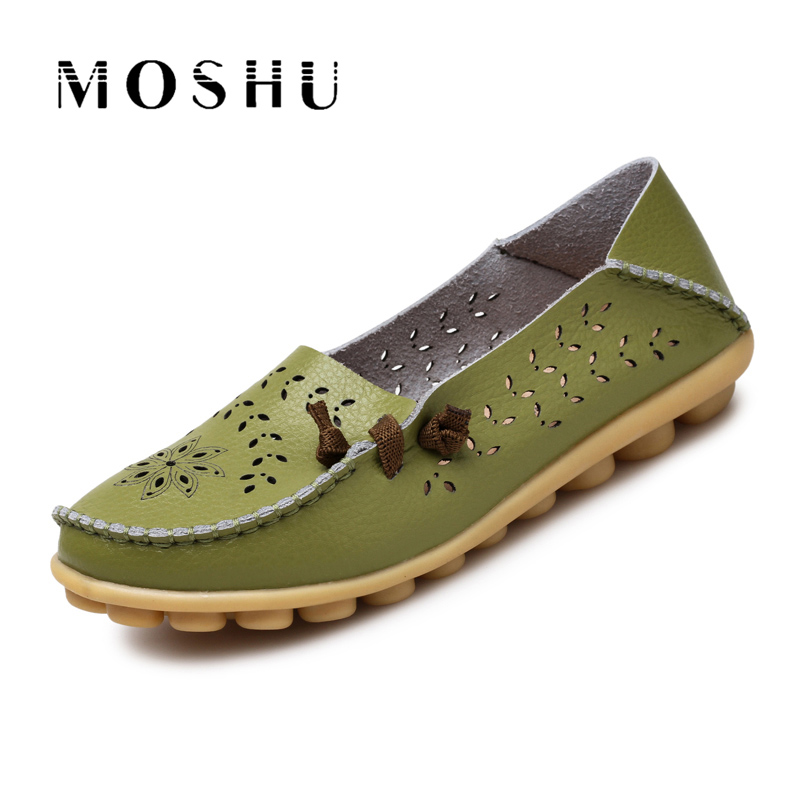 Women Summer Ballet Flats Genuine Leather Moccasins Slip On Loafers Ladies Casual Shoes Chaussure Femme Size 34-44 genuine leather women ballet flats summer loafers moccasins woman slip on folding antiskid casual shoes ballerina size 34 44