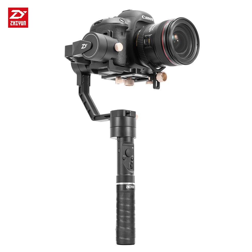 Zhi yun Zhiyun Offizielle Kran Plus 3-achsen Handheld Gimbal Stabilizer für Spiegellose DSLR Kamera Unterstützung 2,5 KG POV Modus