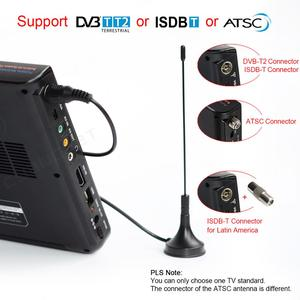 Image 2 - LEADSTAR 10 אינץ HD נייד טלוויזיה DVB T2 ATSC ISDB T tdt דיגיטלי ואנלוגי מיני קטן רכב טלוויזיה תמיכה USB SD MP4 H.265 AC3
