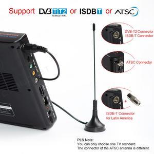Image 2 - LEADSTAR DVB T2 de TV portátil de 10 pulgadas, HD, ATSC, ISDB T, tdt, Digital y analógico, para coche pequeño, compatible con USB, SD, MP4, H.265, AC3