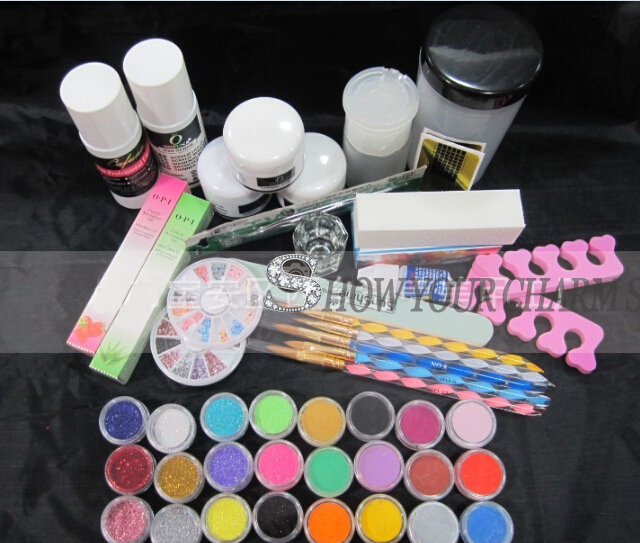Professional Manicure Tools Set DIY Nail Art Set&Kit UV Extension Gels Flase Nail Tips&Decorations new nail art decorations maple leaves duck palm nail art glitter sequins 12box set nail tips decoration tool diy manicure 2017