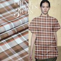 Yarn Dyed Plaid Silk Fabric Summer Shirt Silk Cotton Fabric Natural Organic Cotton Fabric Dress Fabric