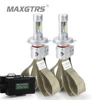 2x H4 9003 9004 9007 H13 HB2 Hi/Lo LED Car Headlight Conversion Kit 8000lm For Lumileds Chip Lumileds Dual Beam Light Bulbs