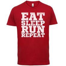 Eat SleepER RunnER REPEAT - Mens T-Shirt Free shipping  Mans Unique Cotton Short Sleeves O-Neck T Shirt Black Style
