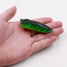 1pcs 7cm/11.6g 3D Eyes Popper Fishing Lure Hard Baits Top Water Lure Sea Laker Fishing Tools Hooks for Pike Bass 6Colors Allure