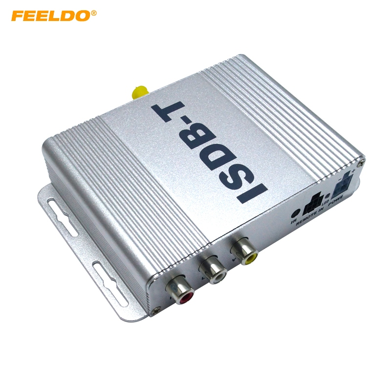 FEELDO 1Set Car Mobile High Quality ISDB-T Digital TV Receiver Box Tuner MPEG-4 For Japan/Brazil/South American #AM2128 dvb t isdb digital tv box for our car dvd player