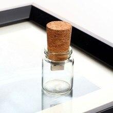 Fashion current bottle gift glass usb flash drive Glass drift bottle with Cork USB Flash Drive Transparent 4GB 8GB 16GB 32GB