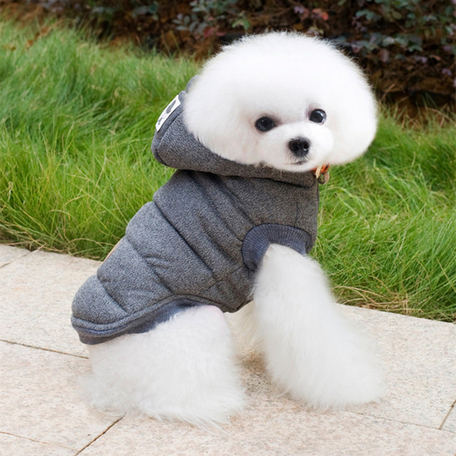 Mustache Hooded Pet Dog Clothes For Small Dogs Winter Dog Coat Jacket Cotton Two Legs Puppy Chihuahua Clothing Apparel Costume