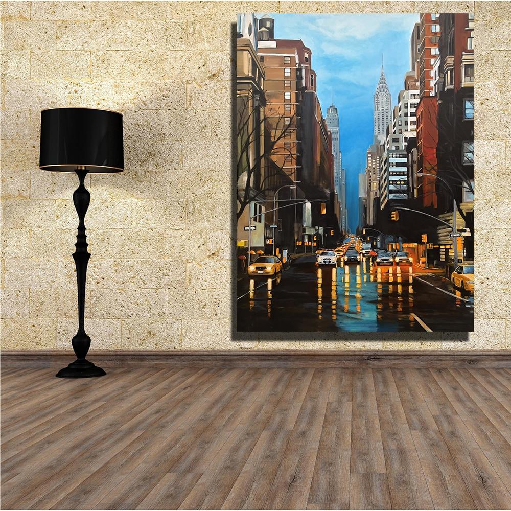Home Decor Nyc: QKART Modern Canvas Home Decor New York Storm Painting