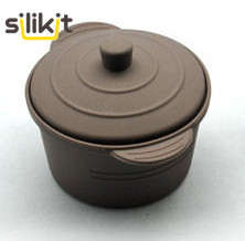 Free Shipping High Quality SILICONE STEAMER ROUND SMALL SIZE  MINI SILICONE POT