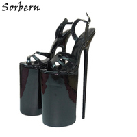 Sorbern 30Cm Thin High Heel Sandals Women Sexy Fetish Shoes Party Dance Show Heels Made To Order Platform Sandals Dropshipping