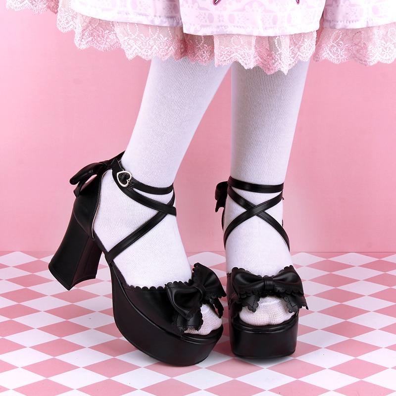 Angelic imprint woman mori girl lolita cosplay sandals lady Wedge Heel Pumps women princess dress party shos size 35-46 8382