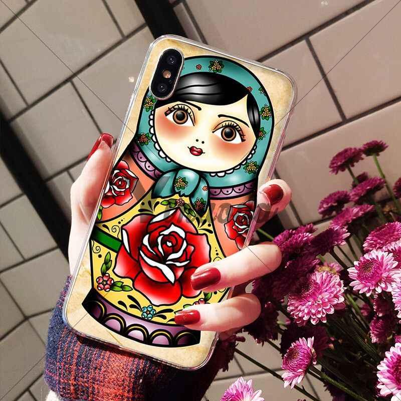 Yinuoda russe matryoshka poupées client de haute qualité téléphone étui pour iphone X XS MAX 6 6s 7 7plus 8 8Plus 5 5S SE XR