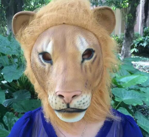 aliexpress com buy angry lion head latex masks scary halloween