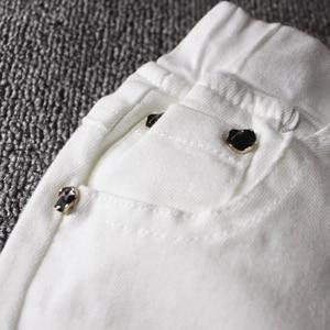 Image 4 - 2019childrens ג ינס ילד לבן מכנסי קזואל הגדול ילדי אביב ובסתיו בנות Slim מכנסיים מכנסיים תינוק חורים