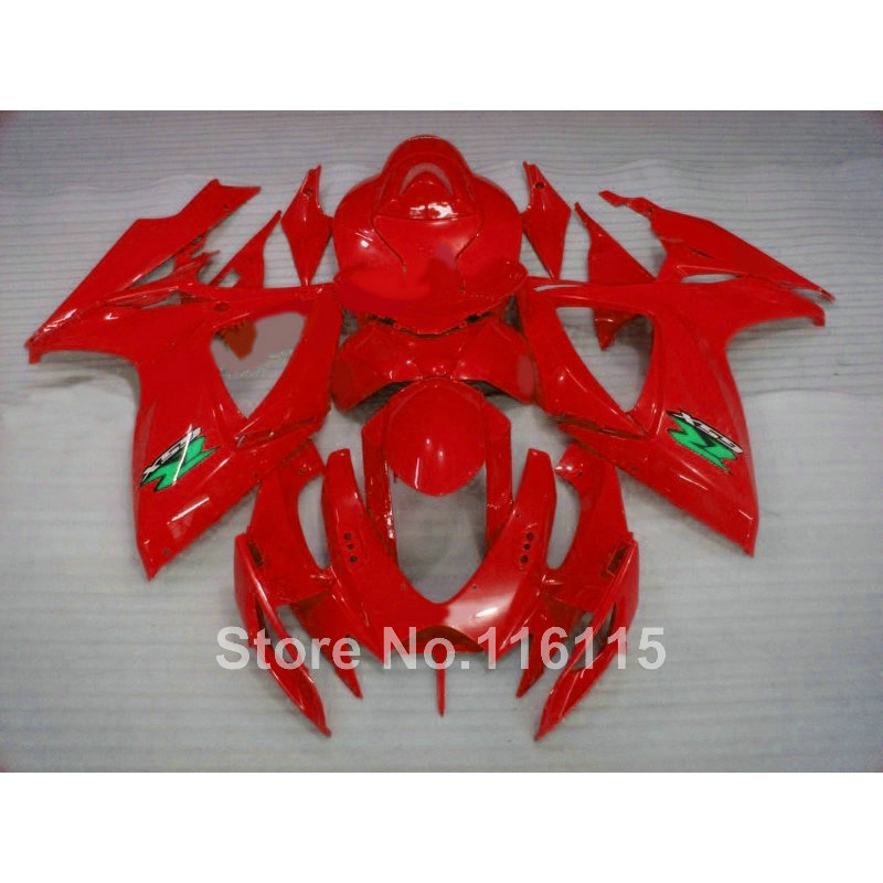 Injection mold  fairings for SUZUKI GSXR 600 750 K6 K7 2006 2007 all red  fairing kit GSXR600 GSXR750 06 07 X598 пена монтажная mastertex all season 750 pro всесезонная