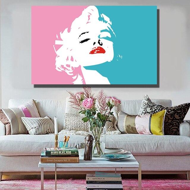 Hd Modern Kanvas Seni Dinding Gambar Y Marilyn Monroe Untuk Ruang Tamu Lukisan Dekorasi Rumah