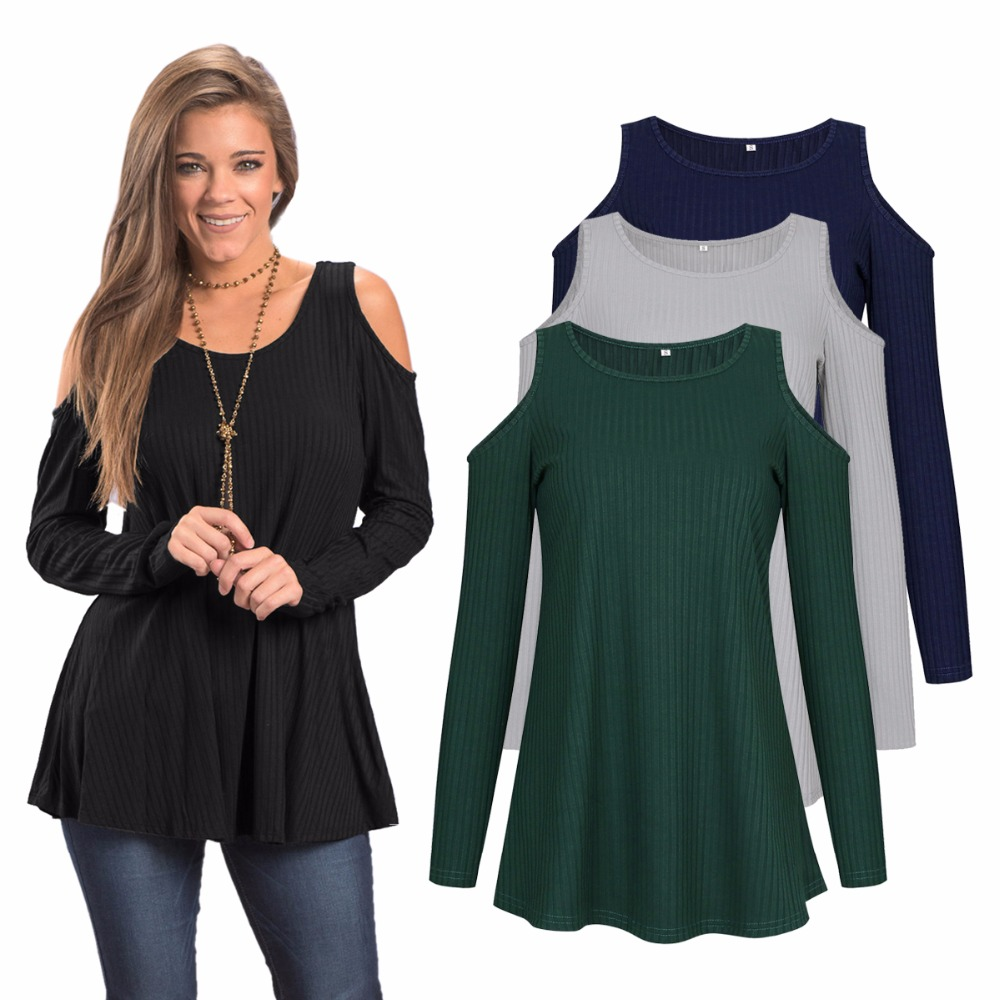71c818afd5306 Italy new European and American fashion casual sexy strapless personality  long sleeve female T shirt-in T-Shirts from Women's Clothing & Accessories  ...