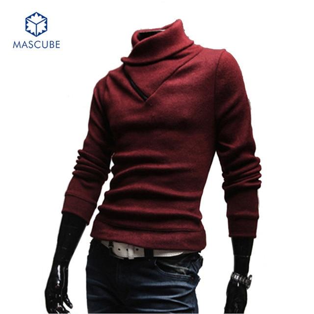 High Quality Women Men Heap Collar Sweater Autumn Winter High Collar Men Unisex Long Sleeve Pullover Sweaters sueter hombre