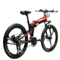 XT600 26 ''Folding EBike 400W 12.8Ah แบตเตอรี่แบบถอดได้ 21 Speed 5 ระดับ Pedal Assist ล็อค Suspension ส้อม-ใน จักรยานไฟฟ้า จาก กีฬาและนันทนาการ บน