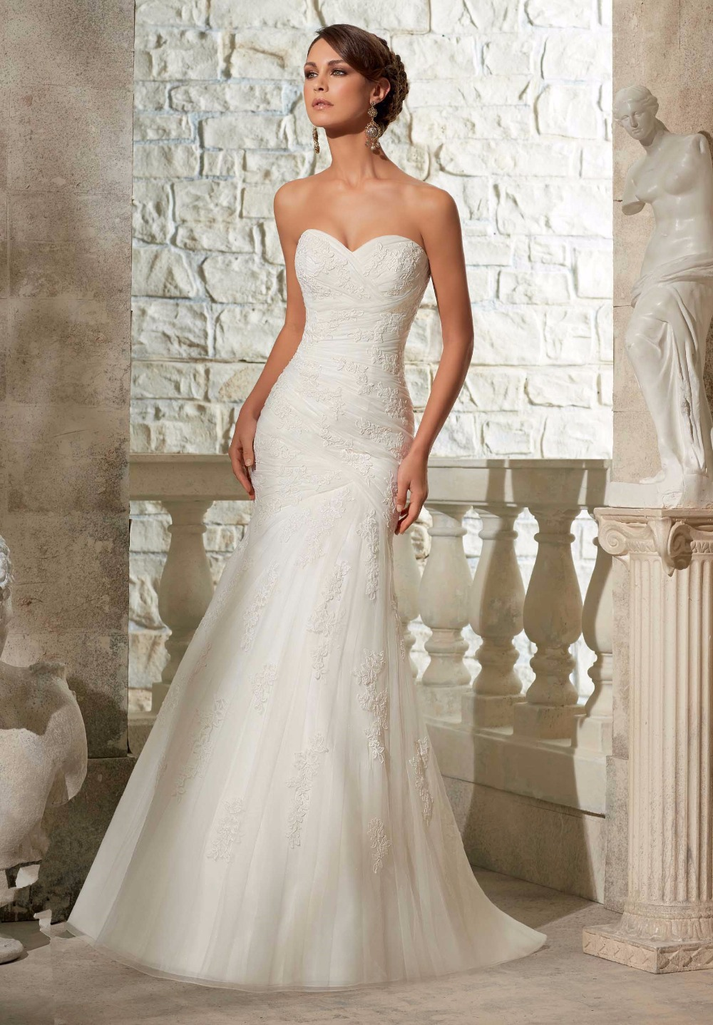 Sweetheart neckline lovely type fishtail wedding dress collocation ...