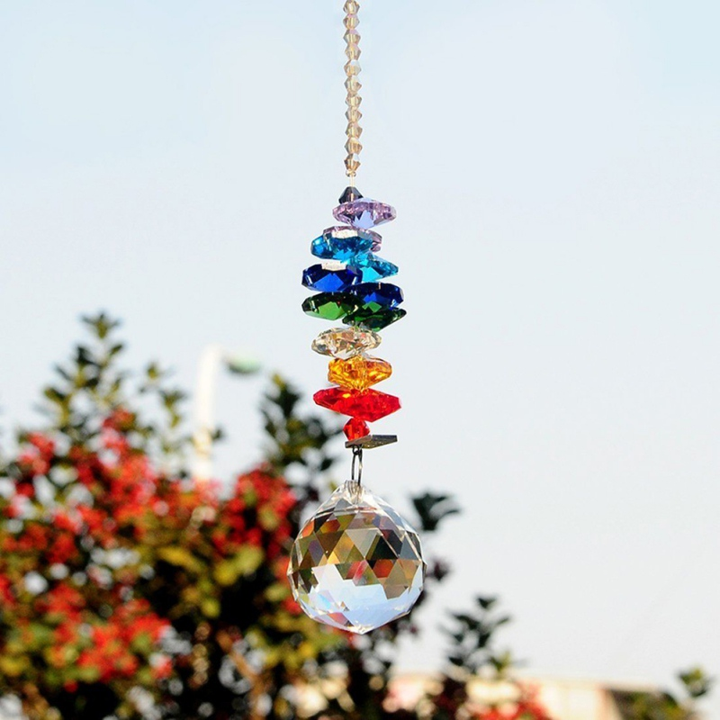 Creative Chandelier Crystals Ball Prisms Rainbow Chakra for Gift Home Weeding Decor Modern Style