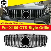 X156 GLA Sport grille grill ABS silver Without Sign Fits For MercedesMB GLA180 GLA200 GLA220 GLA250 GLA45 look grills 2017-in