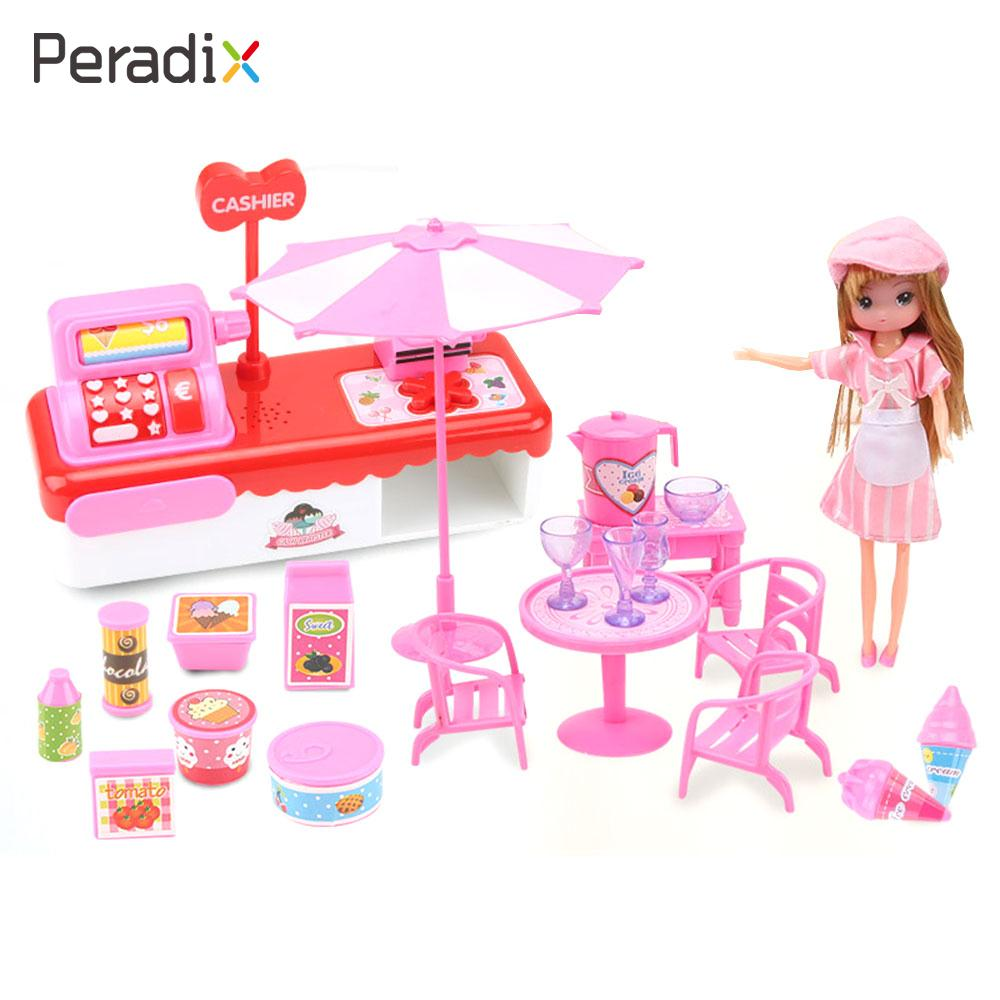 2018 Educational Ice Cream Checkout Ice Cream Cashier Model with Doll Play House