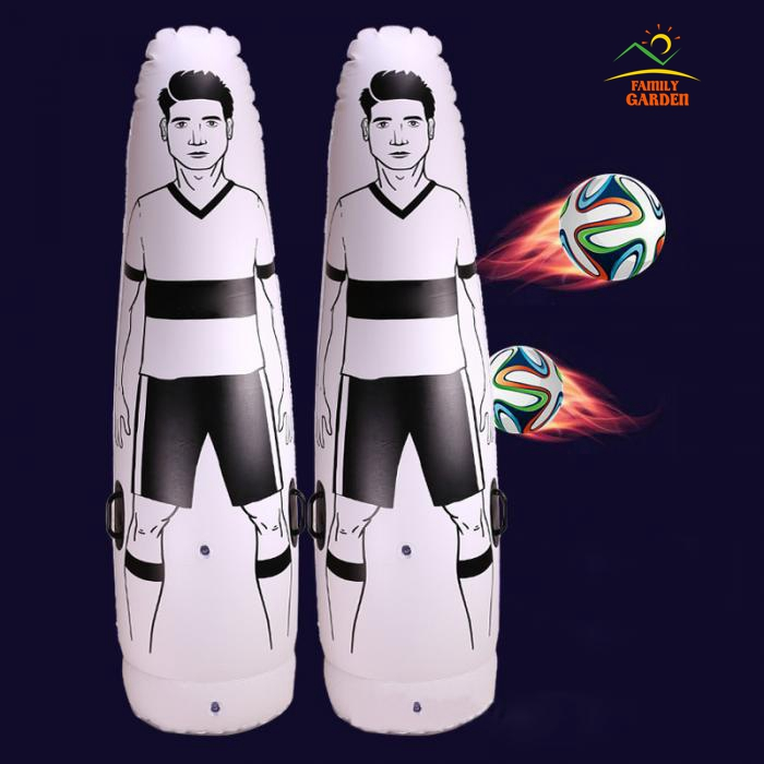 High Quality Thick 0.6MM PVC Inflatable Football Training Goal Keeper Tumbler Air Soccer Dummy Mannequin For Children And Adult-in Punching Bag & Sand Bag from Sports & Entertainment    1
