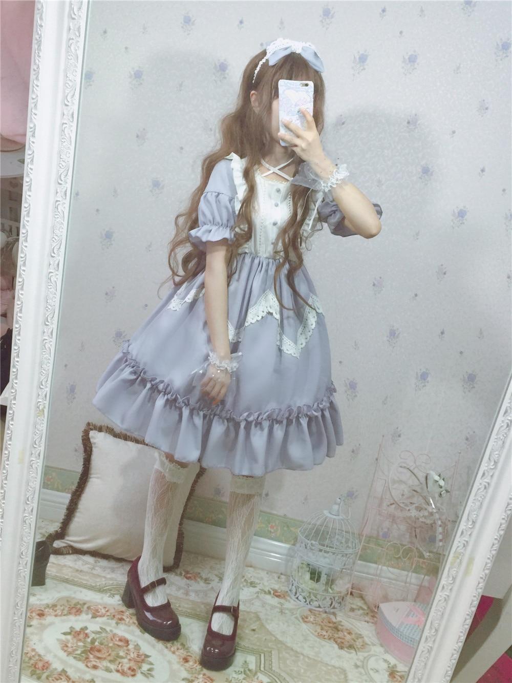D'été Lolita 2018 Merveilles Grand Des Lacet Robe Black Pays Alice Au blue wO0Pk8nX