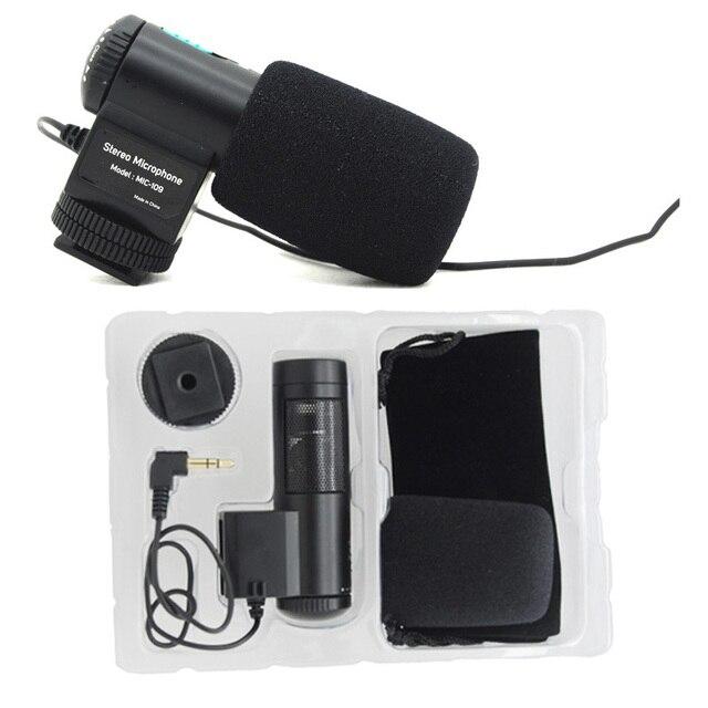 Mic-109, новый Мини MIC-109 для Внешнего Микрофона для 3.5 мм МИКРОФОН для Nikon Canon Все марки DSLR Камеры Видеокамеры