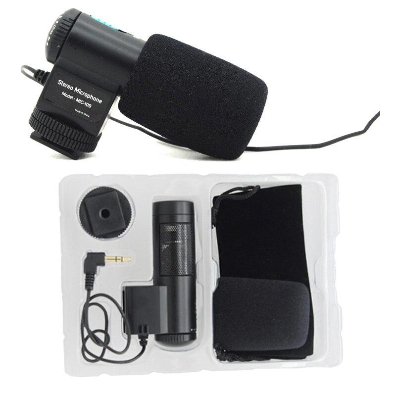 Mic-109, nouveau Mini MIC-109 Microphone stéréo externe pour micro 3.5mm pour Nikon Canon tout marque DSLR caméra caméscope