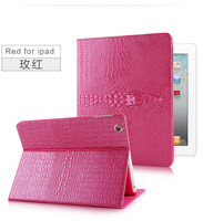 Newest Top Quality 3D Slim Crocodile Leather Case For IPad Air 1 2 Smart Cover For